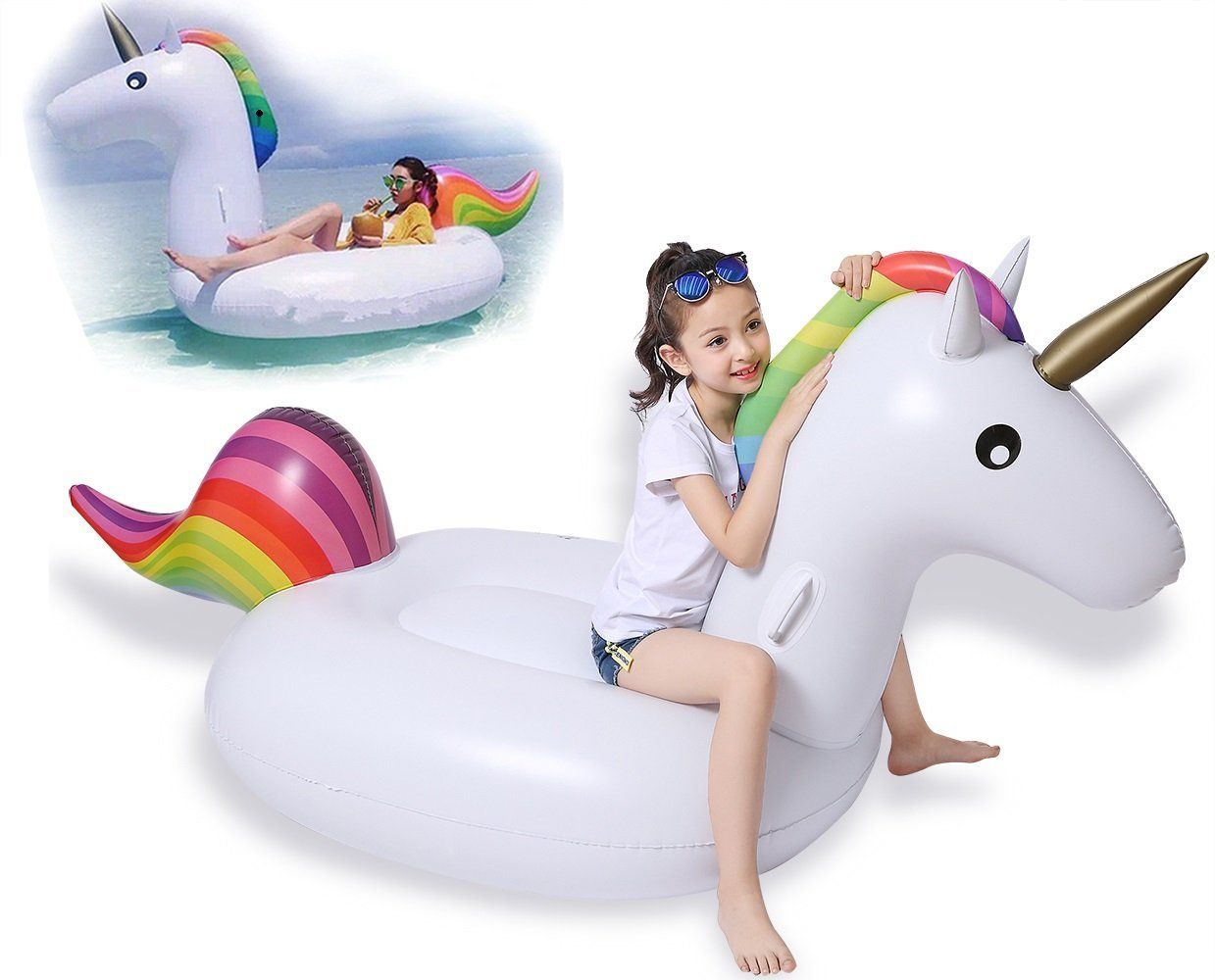 unicornio hinchable barato-oferta amazon