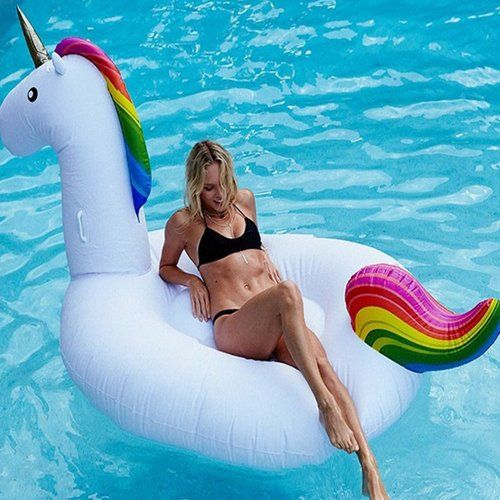 Unicornio hinchable-ganga amazon