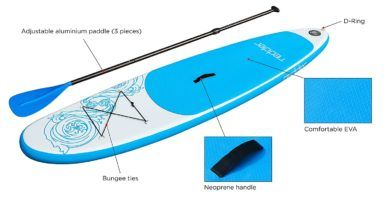 La mejor tabla paddle surf hinchable Redder-ofertas amazon
